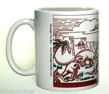 Ceramic mug featuring Marx Prehistoric Times Complete Play Set