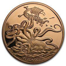 1 Oncia Copper round Kraken 999,99 avdp