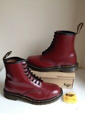 Vtg! Sz7 England Dr. Martens 1460 Air Cushion Oxblood Smooth Leather Boots Eu41