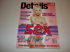 TRACI LORDS on the cover Details magazine May 1995 SIGNED rare plus bonus mag