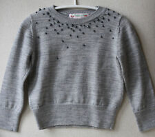 Bonpoint Baby Beaded Gris Sweater 3 Años
