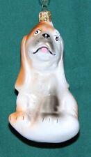 Christbaumschmuck Hund Figur aus Glas Baumschmuck Weihnachtsfiguren