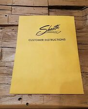 Shasta compact trailer operation and maintenance instructions  NEW (COPY)