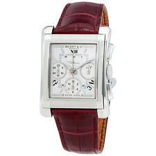 Bedat No. 7 Automatic Silver Dial Bordeaux Leather Mens Watch 768.010.610