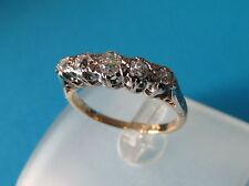 Vintage 18ct Gold & Platinum Diamond 0.35ct 5 Five Stone Ring - Size L - Boxed