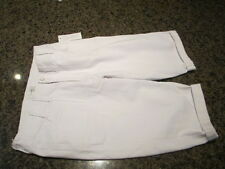 CJ Banks 14W avg  White capri pants zip front rolled up cuff  NWT W 34 X L 15