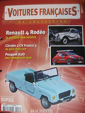 FASCICULE 128 VOITURES FRANCAISES RENAULT 4  RODEO TYPE K AMILCAR  PEUGEOT H2O