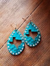 Cowgirl Gypsy TEXAS Turquoise EARRINGS  Southwestern Rodeo western