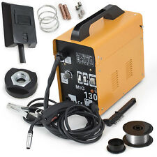 Complete Welder Stainless Steel Flux-Corded MIG-130 Electric Welding Machine Set