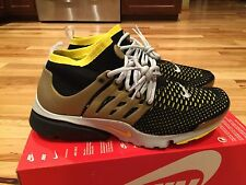 Nike Air Presto Flyknit Ultra Black Yellow Metallic Gold 835570-007 Mens Sz 11.5
