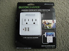 360 Electrical Quickcharge Charging Station w/Surge Protection 2 outlets & 2USB