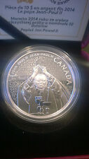 Canada 2014 Fine Silver Coin - Canonization of Pope John Paul II