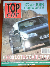 Top Car May 1992 BBR Cosworth, Lotus Carlton replica, Golf GTi Turbo