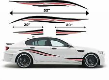 Cualquier coche BMW Audi Ford Honda - 2 Color Rayas Laterales-Adhesivo Decal Sticker