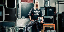 RITA ORA x ADIDAS AJ7240 KIMONO Sleeve Sweater TOP Black / White TREFOIL LOGO