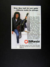 1985 Brian May photo DiMarzio Brian May Model Guitar Pickups vintage print Ad