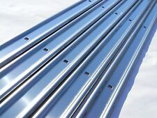 Unpolished Stainless Bed Strips Chevy 1973 - 1987 Chevrolet Short Stepside Truck