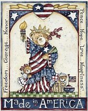"""Made in America Patriotic Bear House Flag Liberty Large Banner 28"""" x 40"""""""
