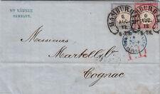 Lettre/Cover GROSCHEN Hambourg pour Cognac 1872