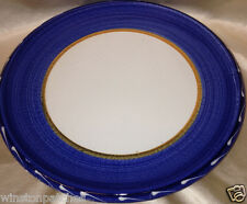 "FURIO HOME LA SPEZIA DINNER PLATE 11 1/8"" DARK BLUE BAND MADE IN ITALY"
