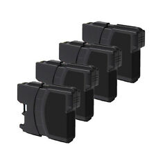 4 PK BLACK Print Ink fits Brother LC61 MFC-J415W MFC-J615W MFC-J630W FREE SHIP