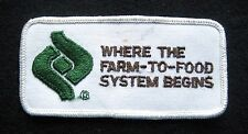 WHERE THE FARM TO FOOD SYSTEM BEGINS EMBROIDERED SEW ON PATCH UNIFORM