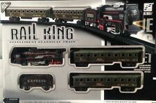 CLASSIC TOY LARGE TRAIN SET TRACK CARRIAGES LIGHT ENGINE BOXED BOYS KIDS BATTERY