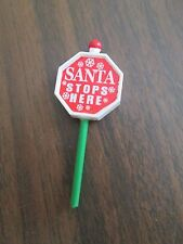 Department dept 56 the santa claus house STOP SIGN ACCESSORY ONLY mint condition