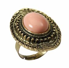 Stone Ring. Pink, Fancy Dress Accessory #US
