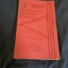1987 Oldsmobile Cutlass Ciera Original Owners Manual
