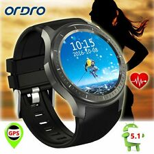 Smart Android 5.1 WCDMA GSM Wrist Watch GPS Sport Mate WiFi Fr Android IOS Phone