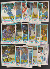 1981 - 82 OPC Team SET Lot of 20 Quebec NORDIQUES NM o-pee-chee STASTNY (R)