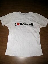 I LOVE ROSWELL juniors small tee UFO alien autopsy beat-up T shirt New Mexico