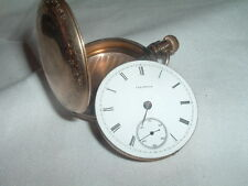 Antique Illinois Gold Pocket Watch Porcelain Face for repair