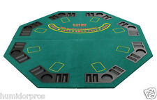 Pro Style Octagon Folding Poker Blackjack Black Jack Table Top and Bag Green