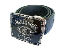 Jack Daniels Tennessee Whiskey Belt and Buckle  Country Western Drinks Black