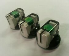 5 JAT Pointer Knobs With Set Screw, Fits Guitar Amps and Pedals.Met Green/Black