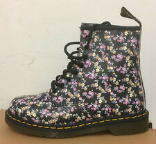 DR. MARTENS 1460  BLACK MINI TYDEE  LEATHER  BOOTS SIZE UK 8