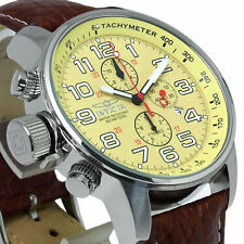 Invicta 46mm I Force Lefty 2772 Quartz Chronograph Leather Strap Watch  ,NEW
