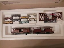 HO SCALE MARKLIN 46134 AUTO TRANSPORT W/MERCEDES BENZ AUTOS/CARS