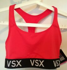 BNWT Victoria's Secret VSX Sport Red Racerback Exercise Bra Top M support logo