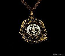 alte Halskette mit Freimaurer Anhänger, old Masonic necklace, Mason Collier, rar