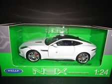 Welly Jaguar F Type Coupe White 1/24