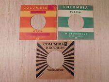 Vintage COLOMBIA 45 Sleeves