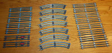 Lot Of 22 Pieces LIONEL 0 GAUGE TRACK 3 RAIL STEEL - Curves & Straight