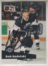 Autographed 91/92 Pro Set Bob Kudelski - Kings