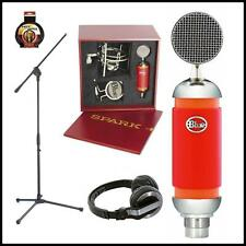 Blue Spark Studio Condenser Microphone with Stand Pioneer HDJ500 Case & Mount
