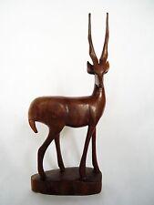 Mid Century Teak Antelope, Deer Sculpture C1950 / 60 Large