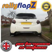Mud Flaps to fit PEUGEOT 208 GTi (2011 on) RallyflapZ Mudflaps Black Logo White