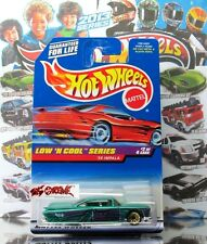 Hot Wheels 1998 #698 '59 Impala METAFLAKE GREEN,VARIANT-RED CAR CARD,GOLD WSP